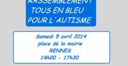 rassemblement pour la journée mondiale de l'autisme