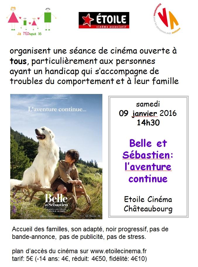 """cinéma différent """"Belle et Sébastien: l'aventure continue"""""""
